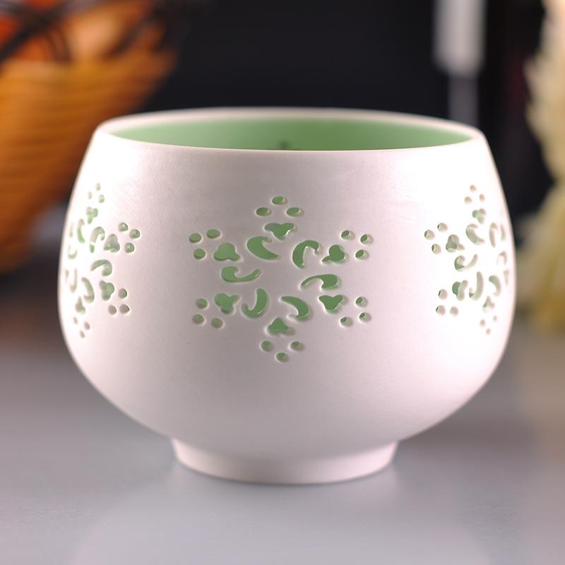 Hollow Out Porcelain Tealight Holders Handmade Ceramic
