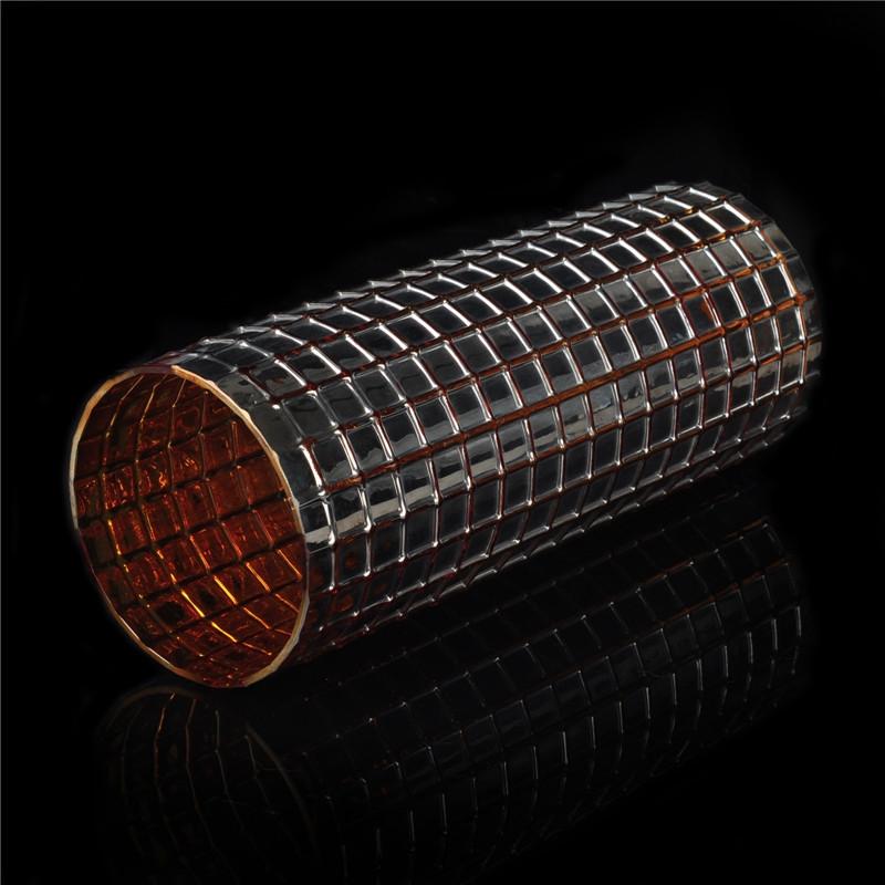 Low Moq Cylinder Mosaic Glass Candle Holder Glass Mosaic