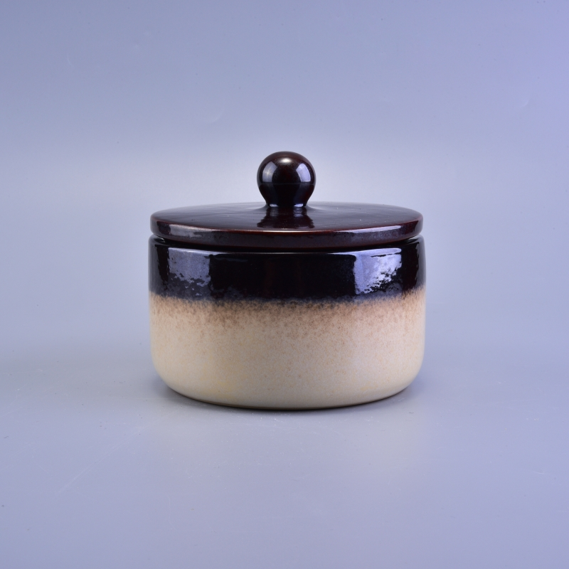Luxurious Ceramic Candle Container With Lid Wedding