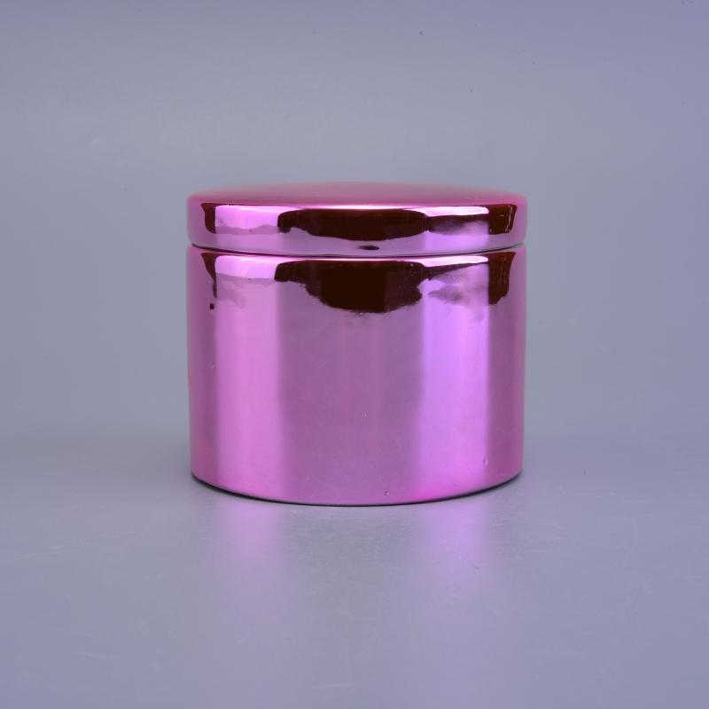custom luxury rose gold ceramic candle holder with lids. Black Bedroom Furniture Sets. Home Design Ideas