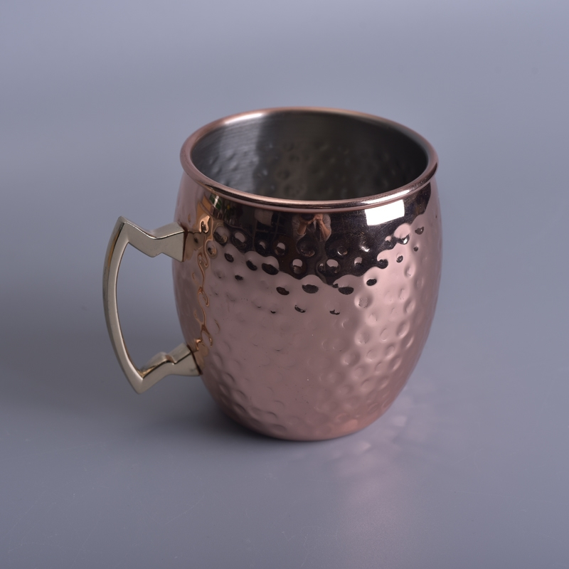 Luxury Copper Metal Candle Cup Copper Candle Cup Metal