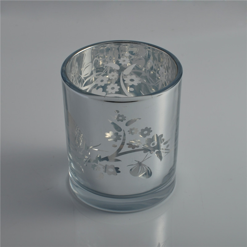 Luxury Electroplating Laser Votive Candle Glass Jar Votive