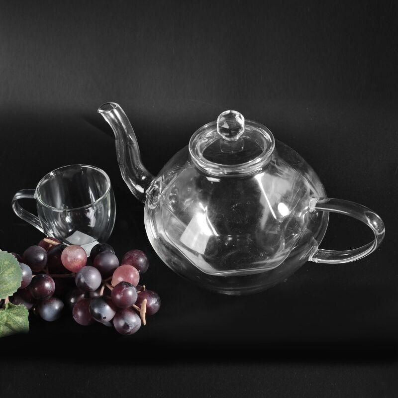 Mouth Blown High Borosilicate Pyrex Glass Teapot Glass