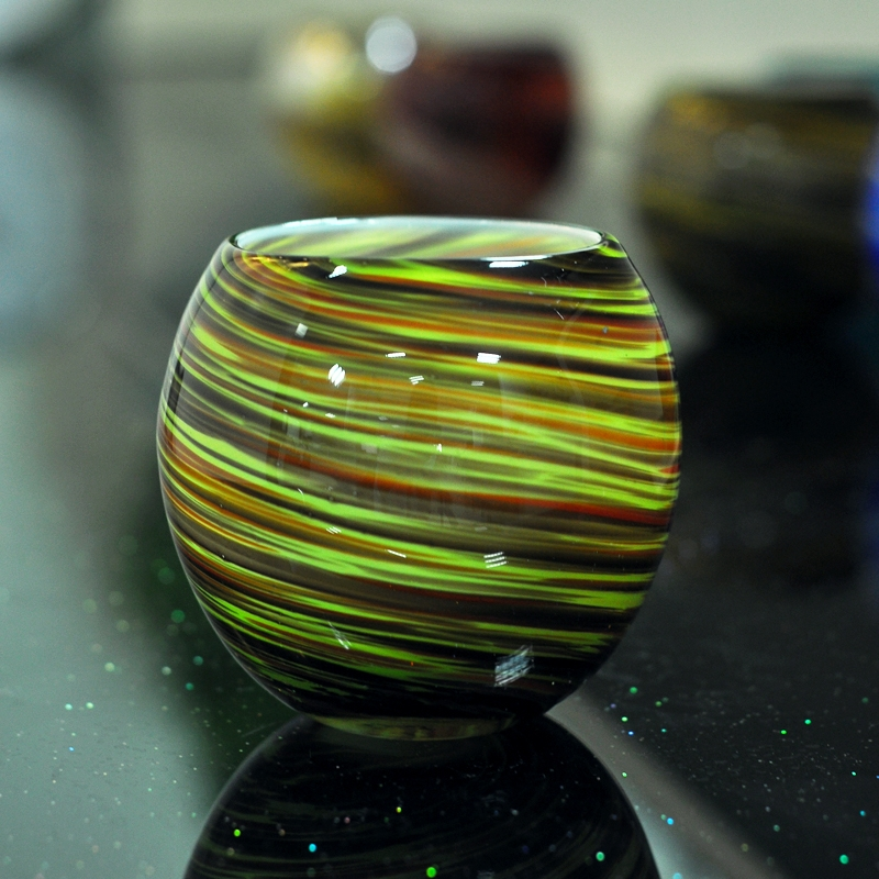 New Design Round Ball Glass Candle Holder Round Glass