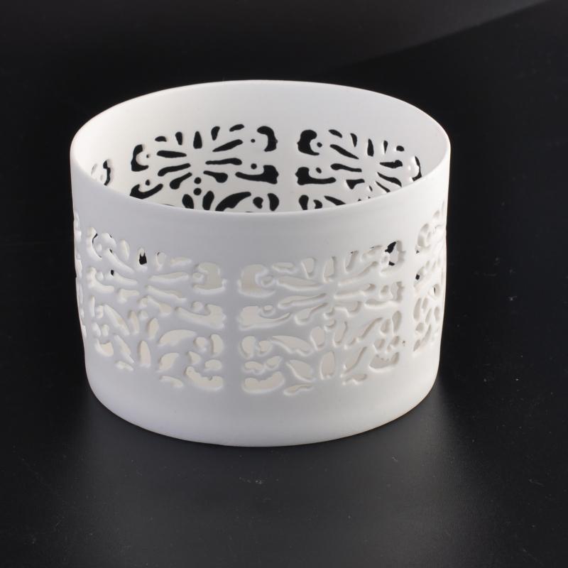 New White Ceramic Votive Holder Candle Jars Candle Holders