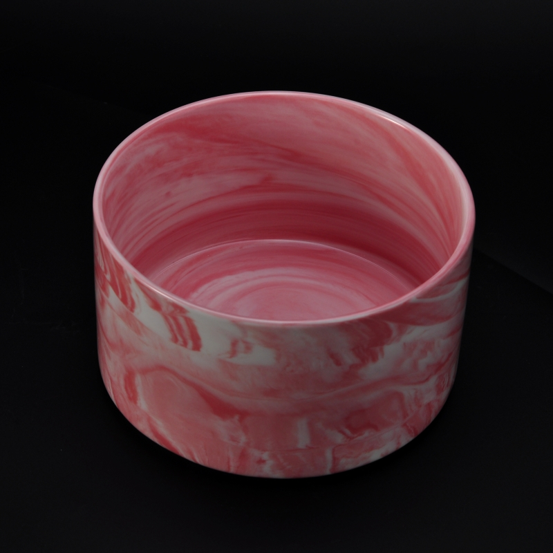 newly pink marber ceramic candle container wholesale,ceramic candle