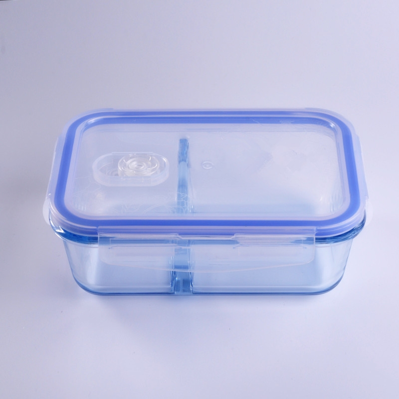 Rectangle Compartment Lunch Boxes Glass Borosilicate