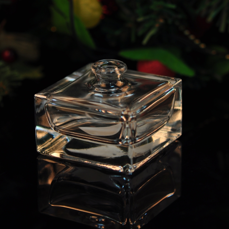 Square glass perfume bottle transparent perfume bottles square glass diffuser - Square bottom wine glasses ...