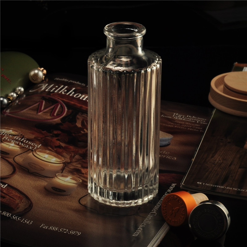 Aroma Diffuser Bottle ~ Stripe home fragrance diffuser glass bottles