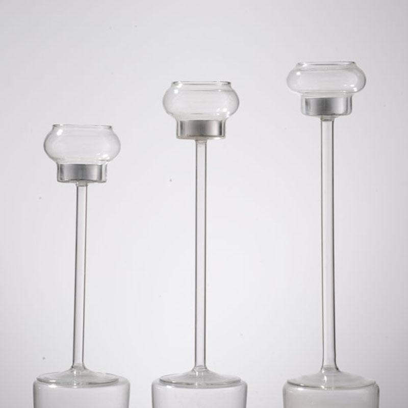 Unique Candle Holders: Unique Design Long-stem Glass Tealight Candle Holders