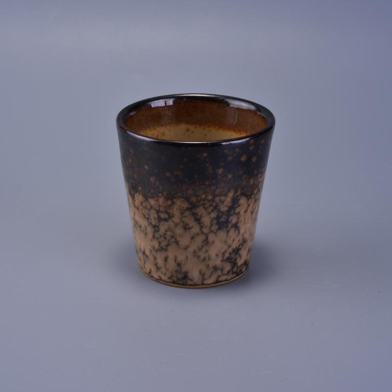 Unique design transmutation glaze ceramic candle holders