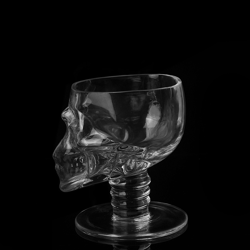 Unique Candle Holders: Unique Giant Skull Design Candle Stand Wholesale,glass