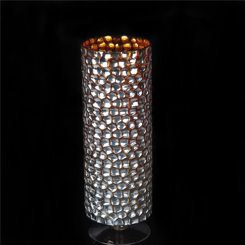 Unique Handmade Glass Mosaic Candle Holder For Home