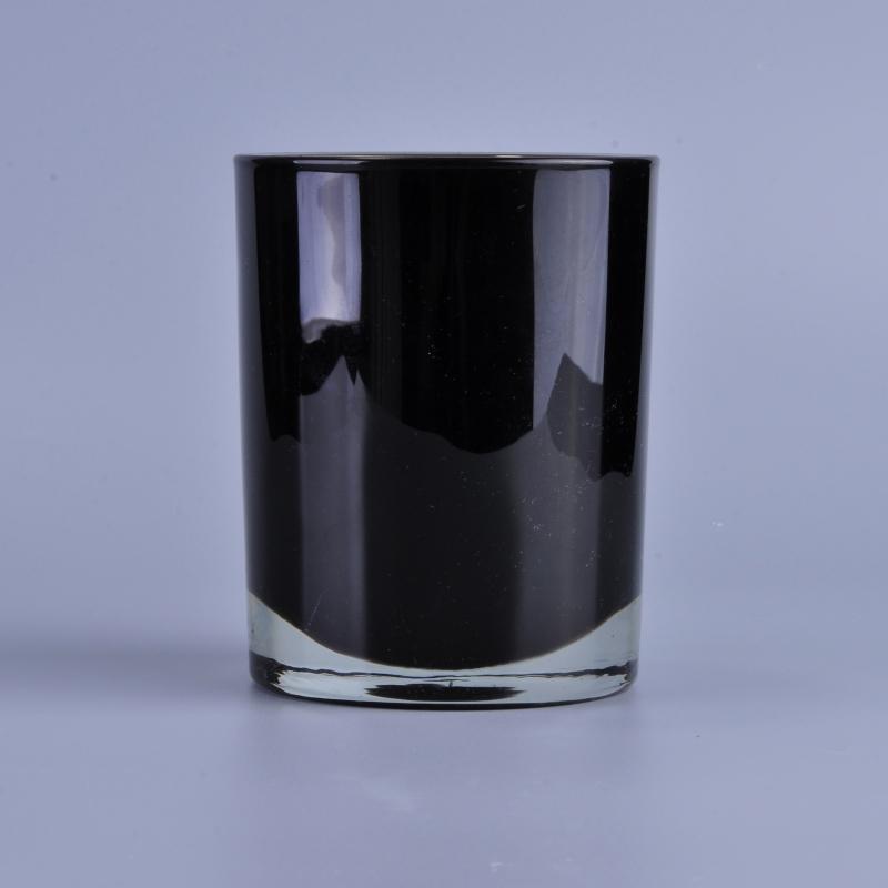 Unique Candle Holders: Unique Thick Wall Black Spray Color Votive Glass Candle