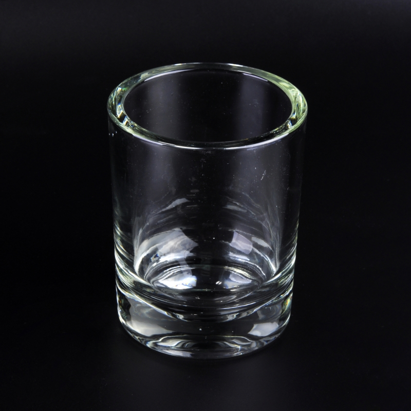 Unique Thick Wall Black Spray Color Votive Glass Candle