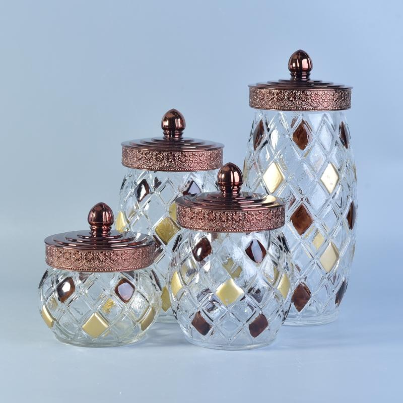 Wholesale Brown Glass Jars With Lid Glasswarwe And Ceramic