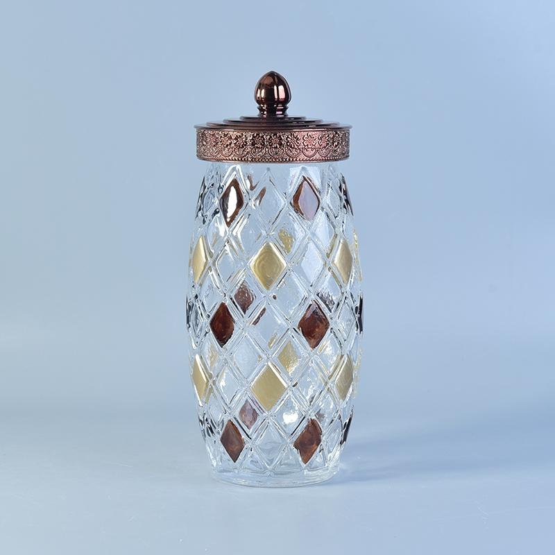 Brown Glass Jars With Black Lid