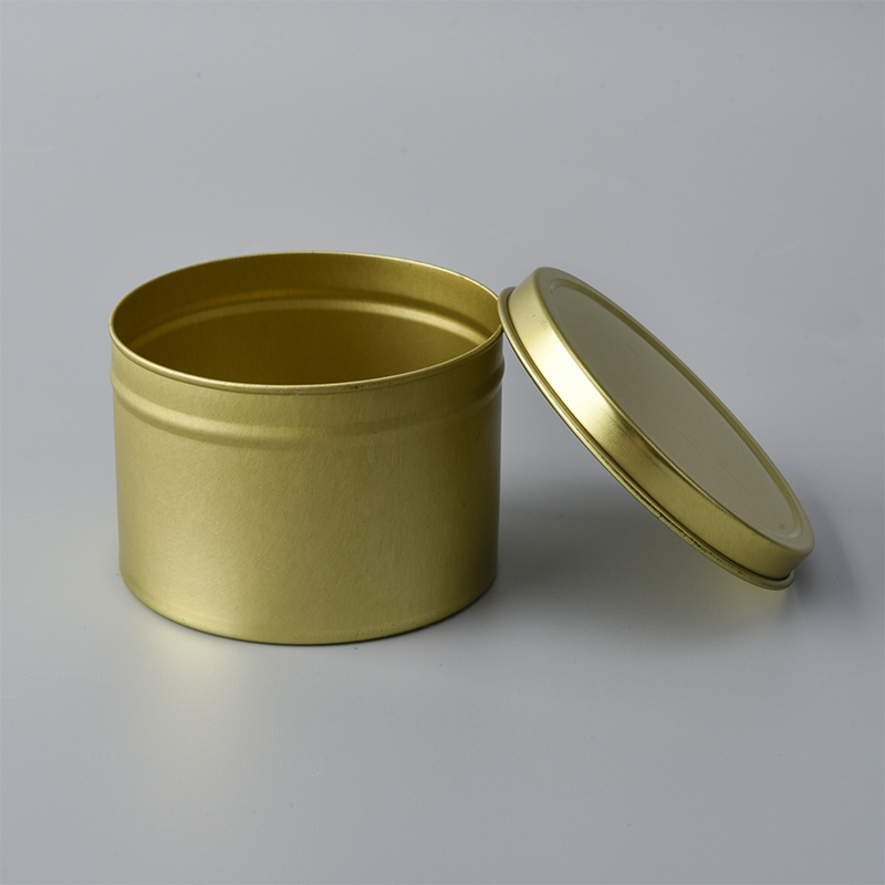 Wholesale Round Gold Tin Case Candle Containers Tinplate