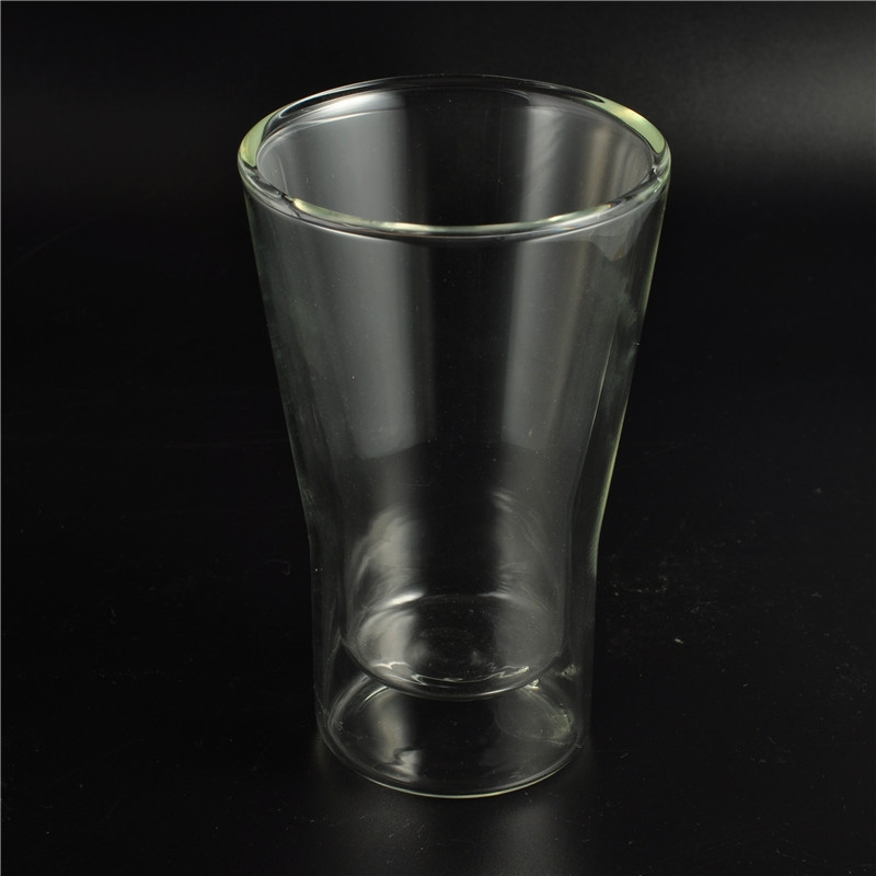 borosilicate double walled beer mug tumbler glass double wall glass coffee cup on. Black Bedroom Furniture Sets. Home Design Ideas