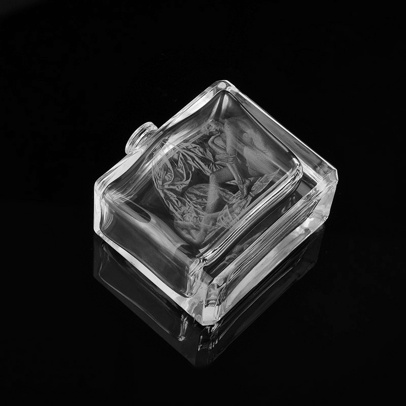 Clear laser square glass perfume bottle glass bottle perfume bottle supplier from - Square bottom wine glasses ...