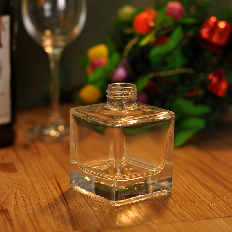 Clear square glass perfume bottle glass bottle perfume bottle supplier from - Square bottom wine glasses ...