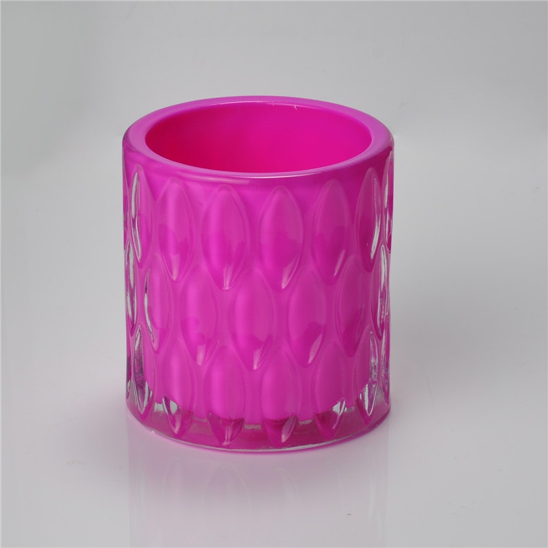 Colored Glass Candle Holder For Tealight Glass Candle