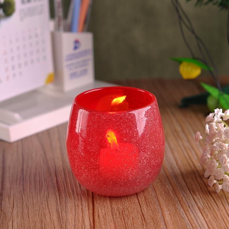 Decorative Glass Candle Containers Colored Glass Wax