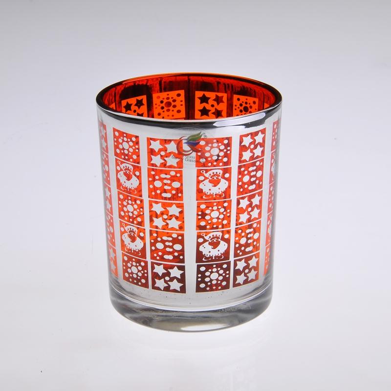 Glas kerzenleuchter galvanische glas kerzenleuchter for Kerzenhalter aus glas