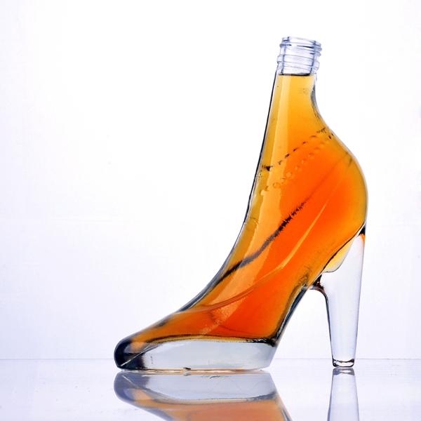 c9f8b562f491 high-heel shoe shape glass wine bottle