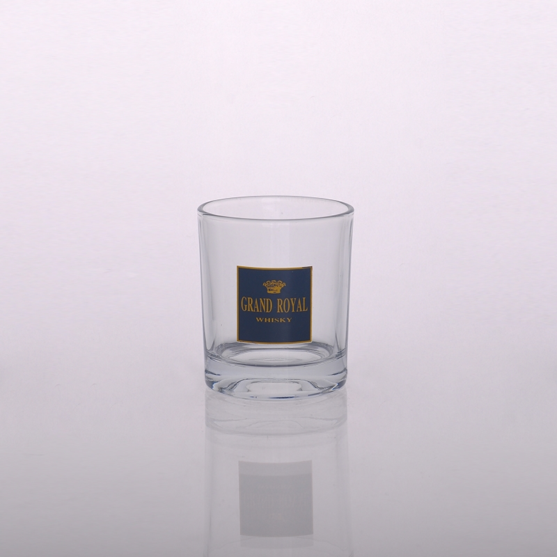 Home decor votive clear glass candle jar on for How to decorate empty glass jars