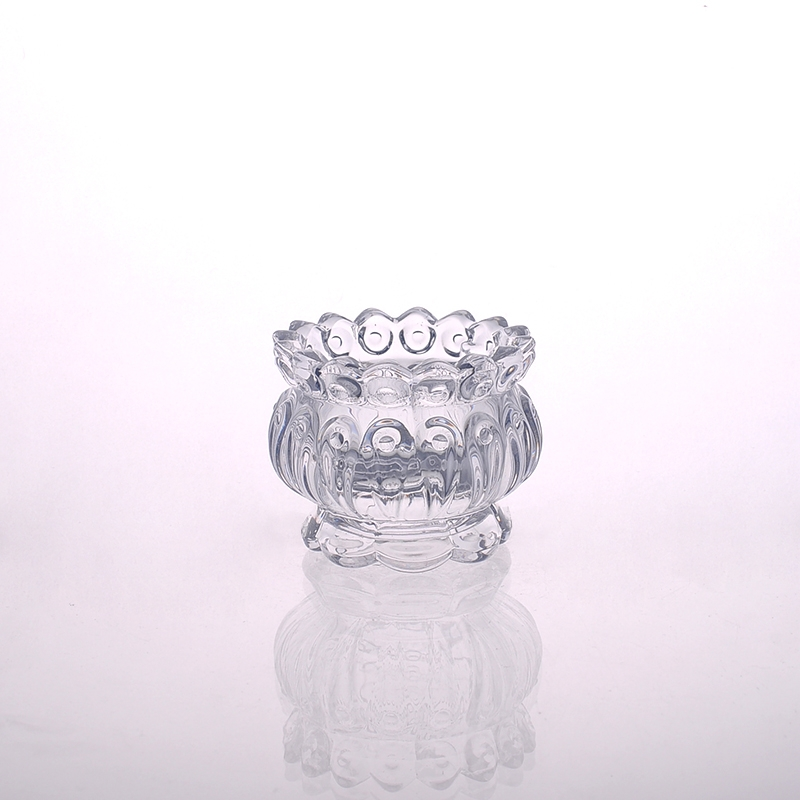Home decor embossed crystal glass candle jars on Crystal home decor