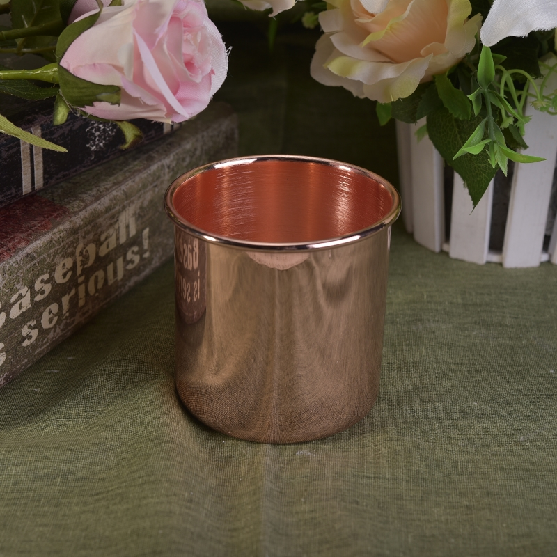 Home decor metal copper candle jar on for Copper decorations home