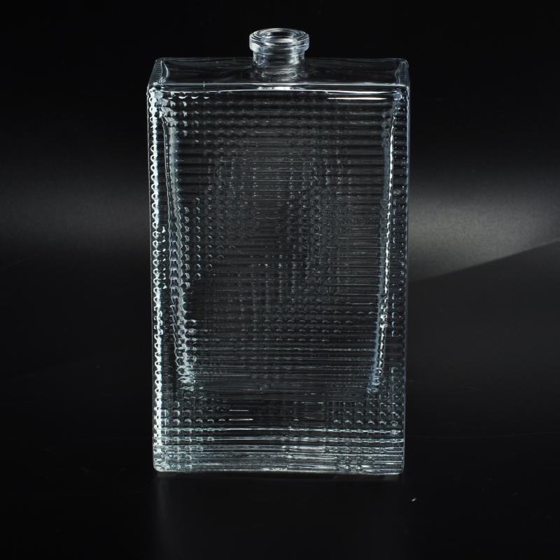 Home decor square glass perfume bottles on - Square bottom wine glasses ...