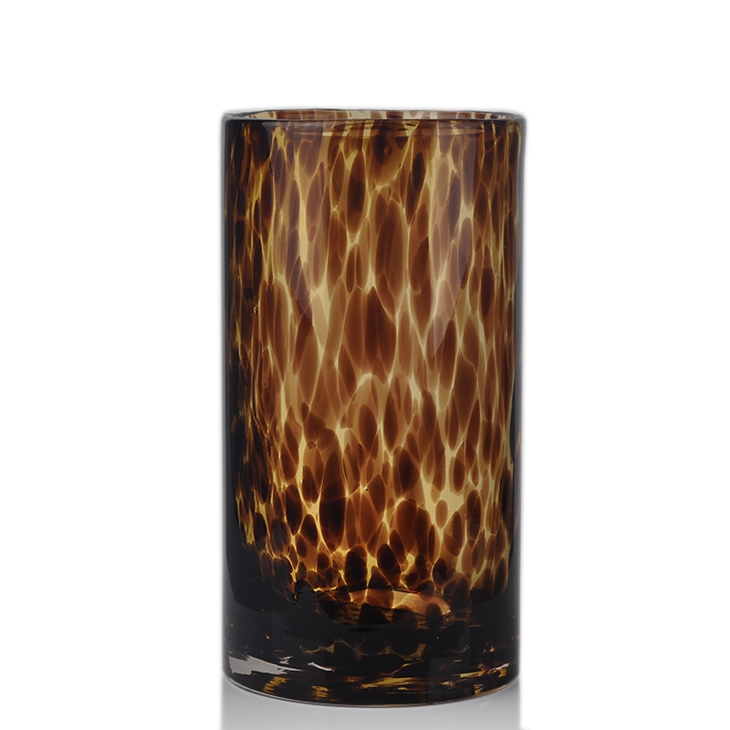 Leopard Glass Vase On Okcandle Com