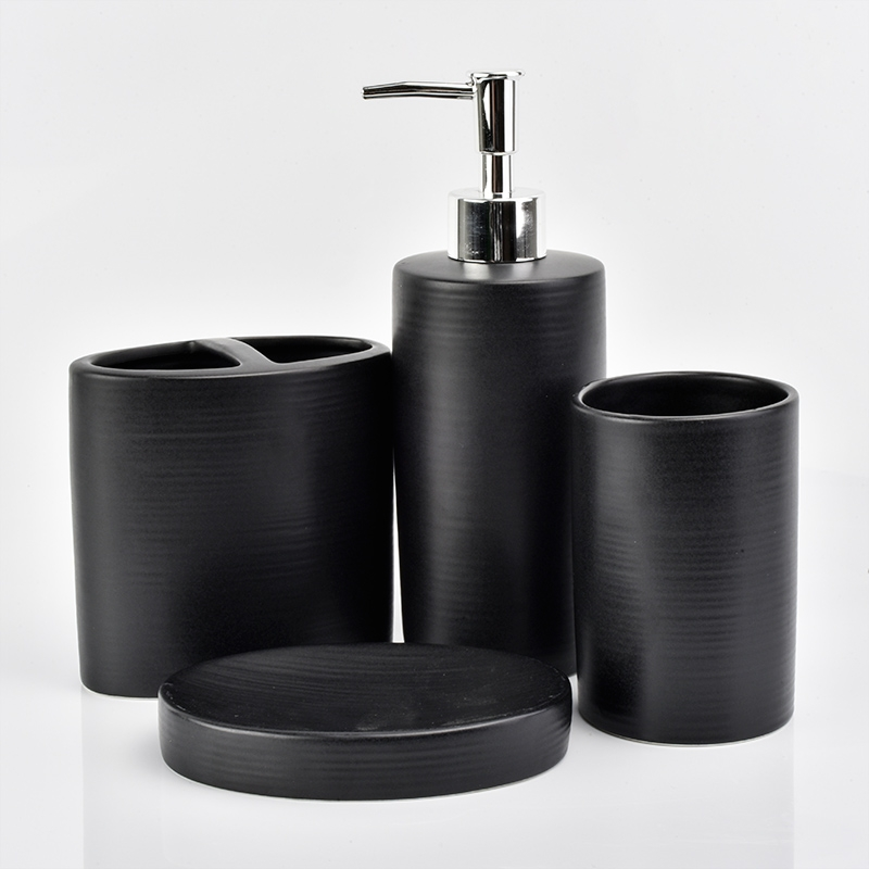 Bulk Bathroom Supplies: Luxury Hotelware Ceramic Bathroom Accessories Sets Wholesale