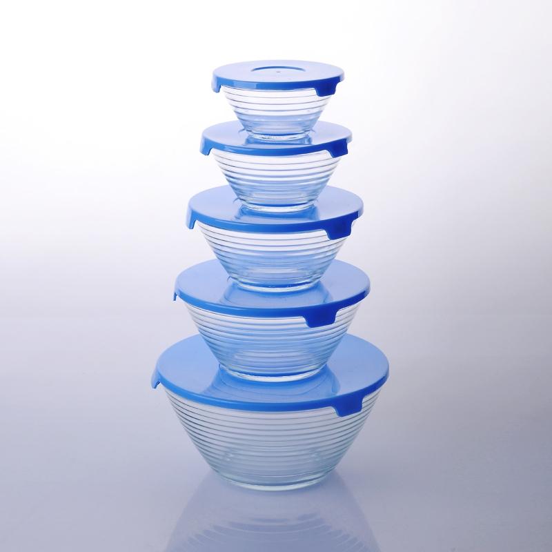 Bols de verre pyrex avec couvercle r cipient alimentaire - Saladier en verre avec couvercle ...