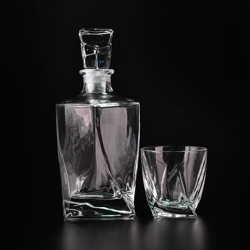 Whisky Decanter Set Liqueur Wine Brandy Alcohol Square ... |Whisky Bottle With Glass