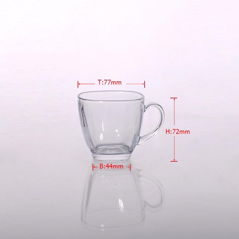 Small Glass Tea Cup Amp Glass Coffee Mug With Handle Clear