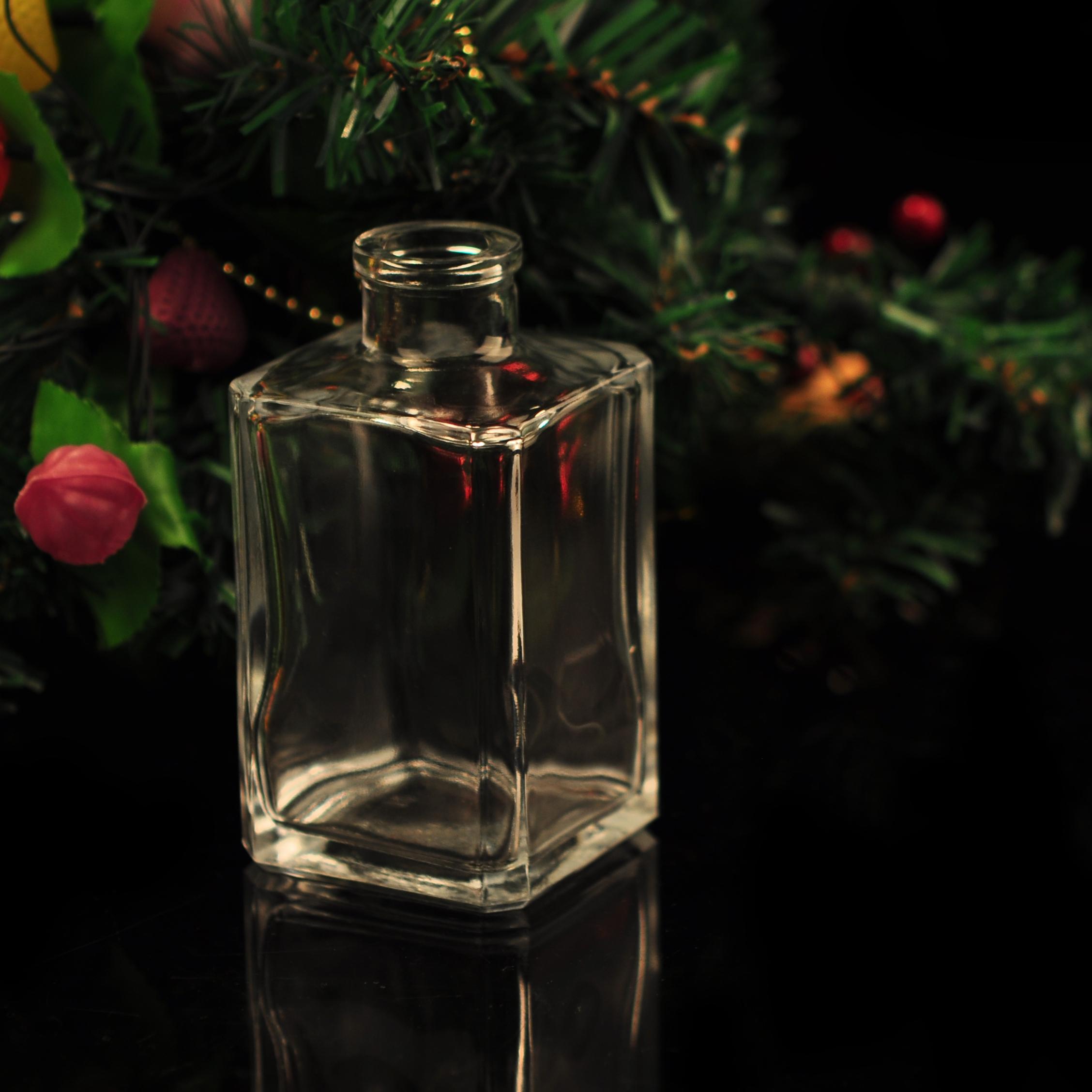 Square glass bottle for fragrance transparent perfume bottles square glass diffuser bottle - Square bottom wine glasses ...